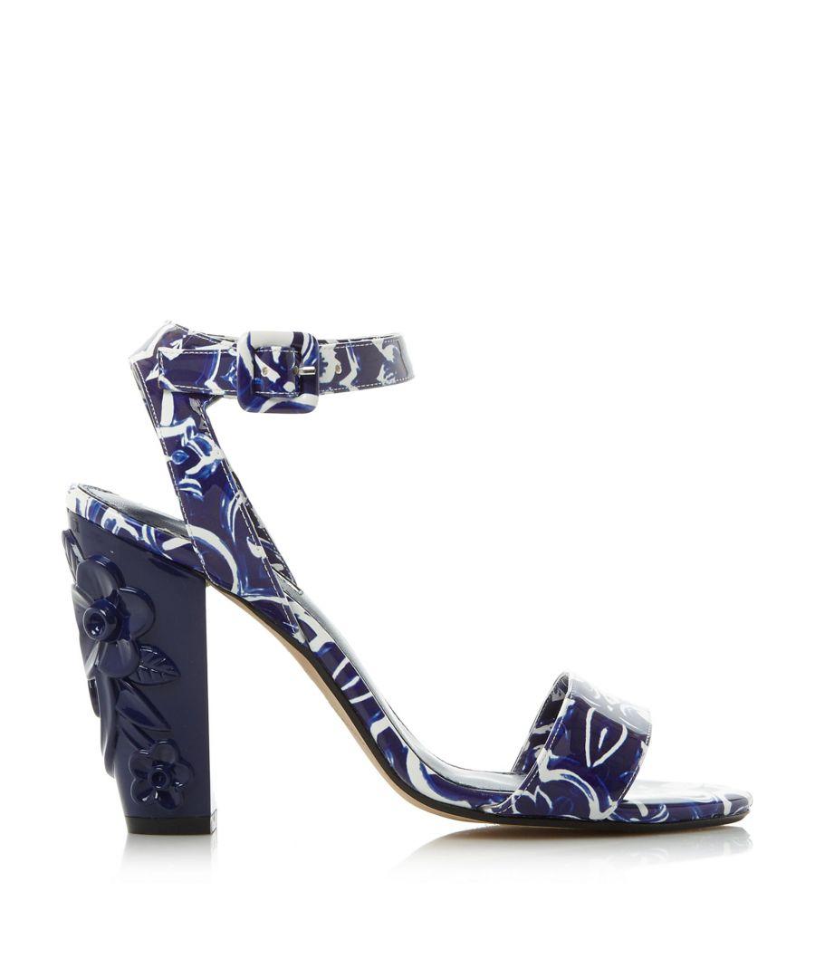 Image for Dune Ladies MAYFLOWER Floral Detail Block Heel Sandals
