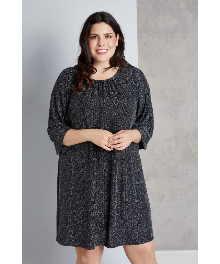 Image for Glitz Ruched Neck Tunic
