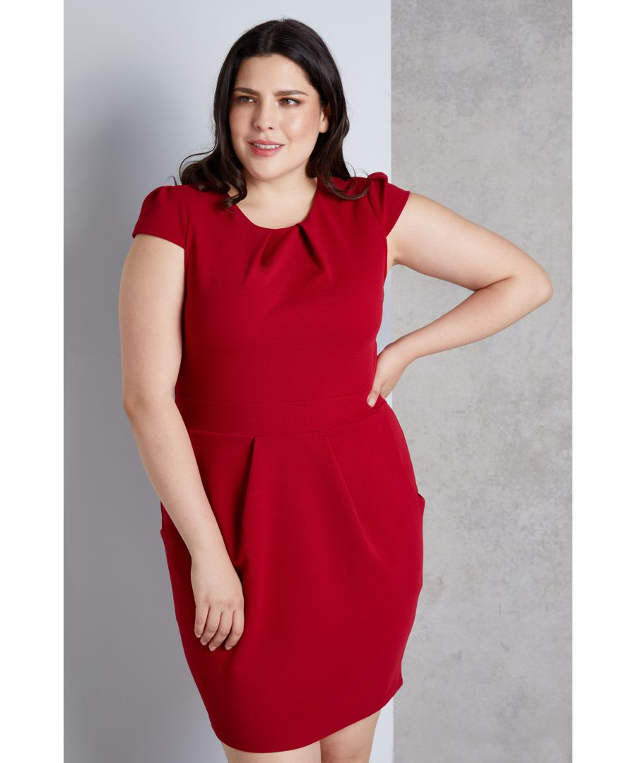 Image for Capped Sleeve Tulip Dress