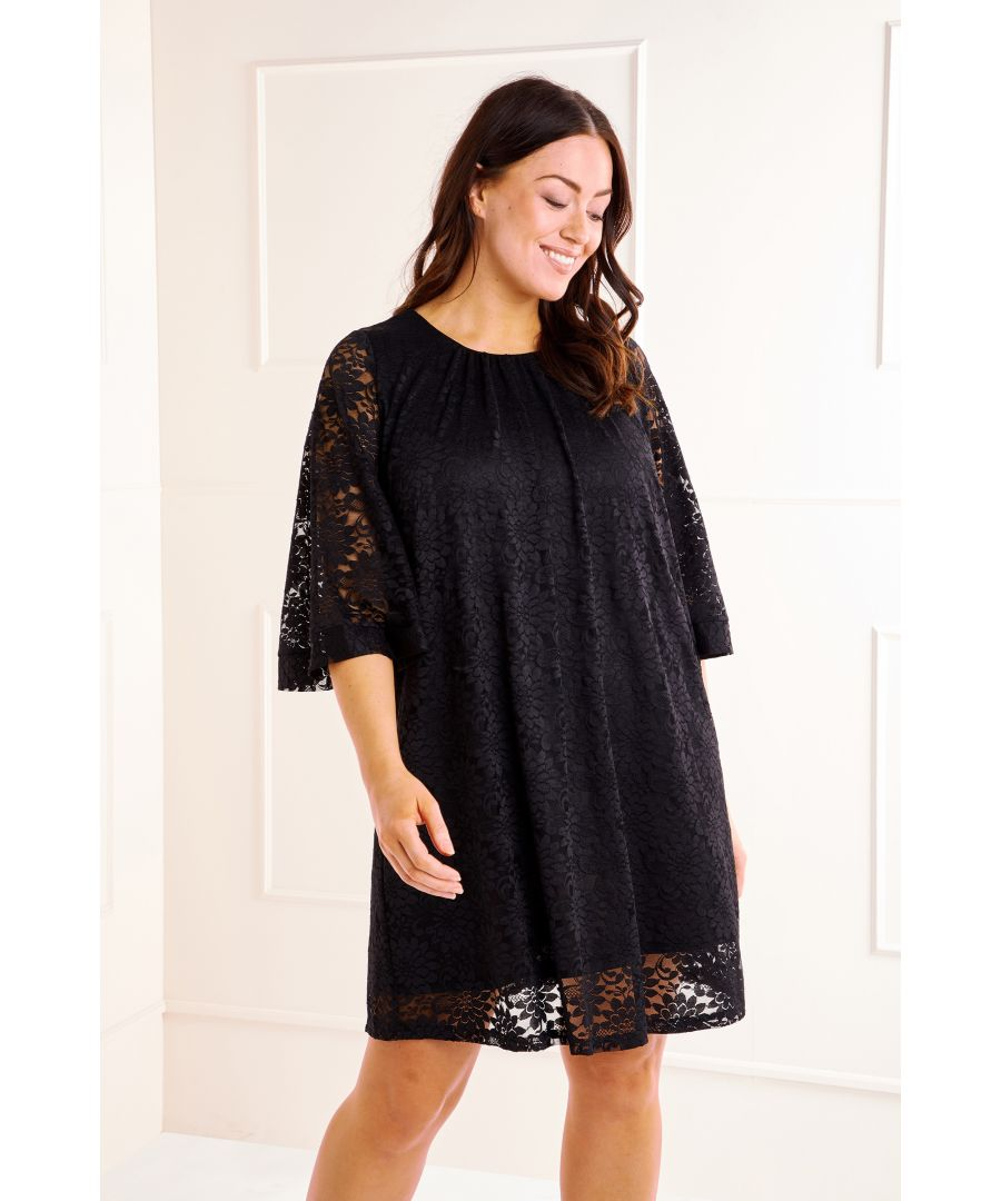 Image for Lace Ruched Neck Tunic