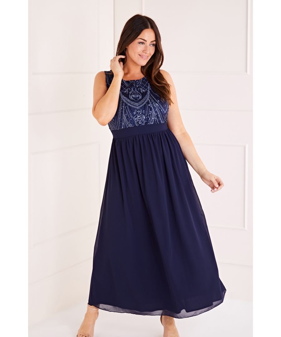 Image for Sequin Detailed Maxi Dress