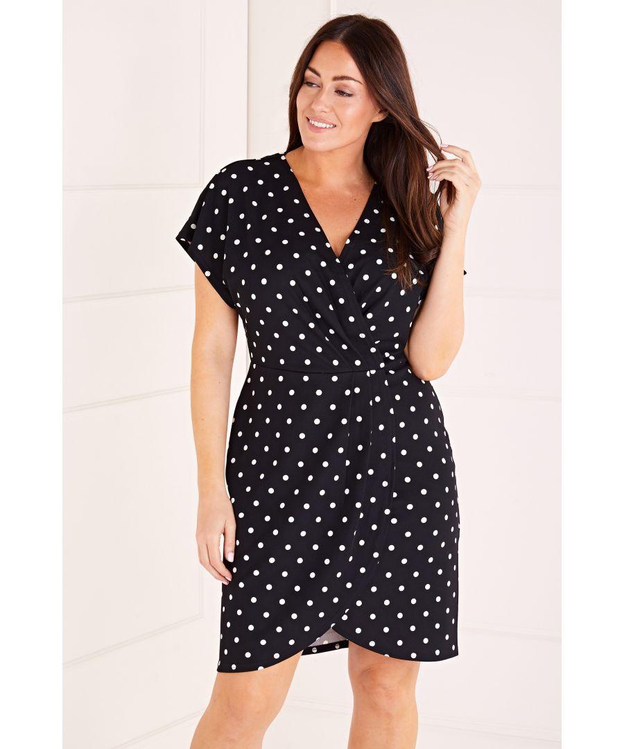 Image for Polka Dot Wrap Front Dress