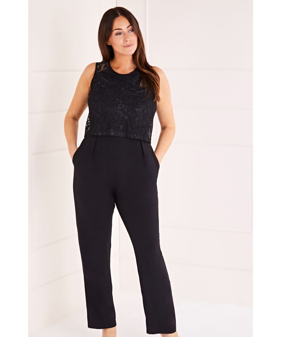 Image for Lace Top Overlay Jumpsuit