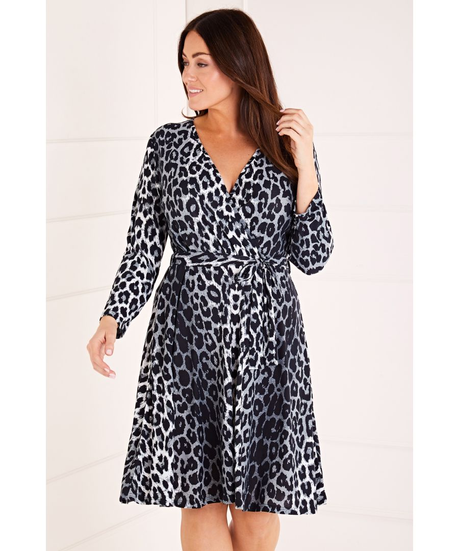 Image for Leopard Print Wrap Front Dress
