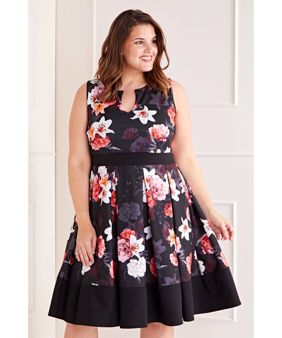 Image for Floral Printed Skater Dress