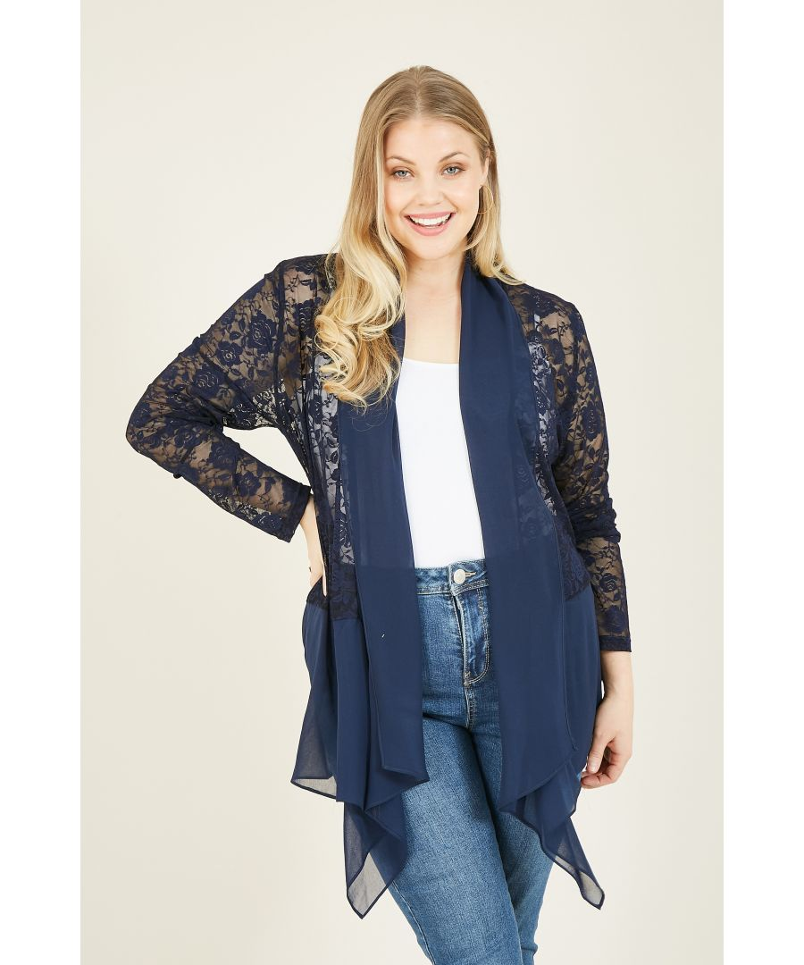 Image for MELA LONDON CURVES Lace Waterfall Jacket