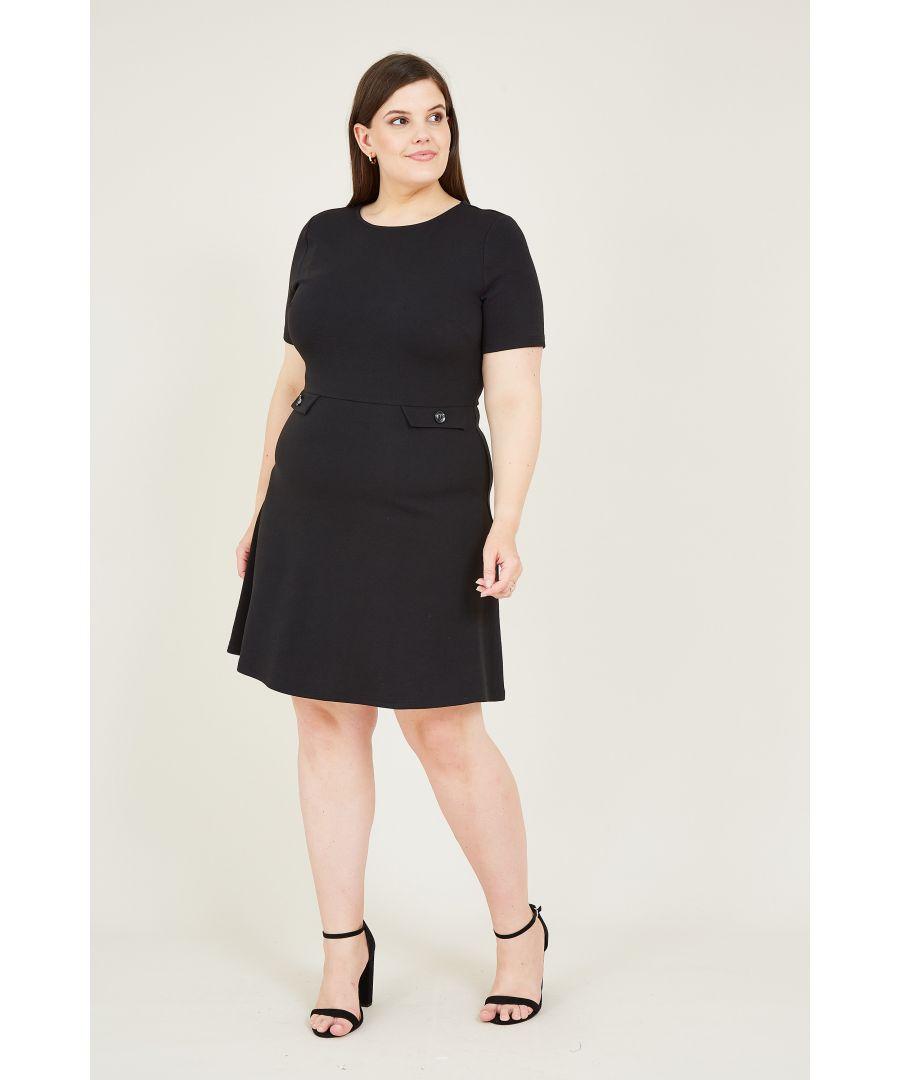 Image for Black Skater Dress With Pocket Detail