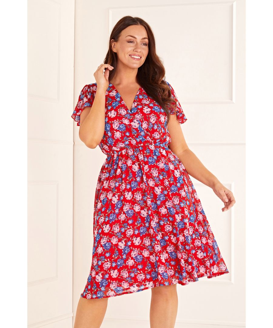 Image for Tiny Rose Wrap Front Dress