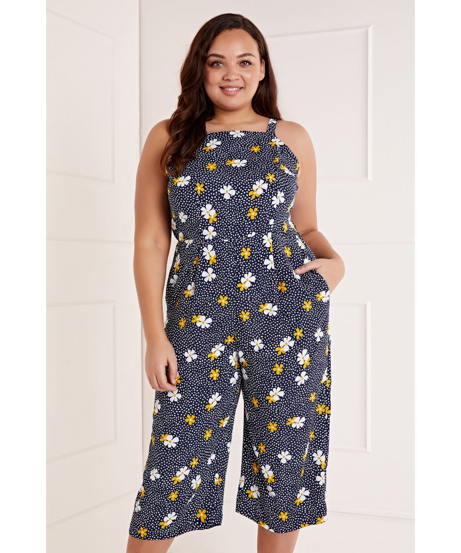Image for Daisy Print Spot Jumpsuit