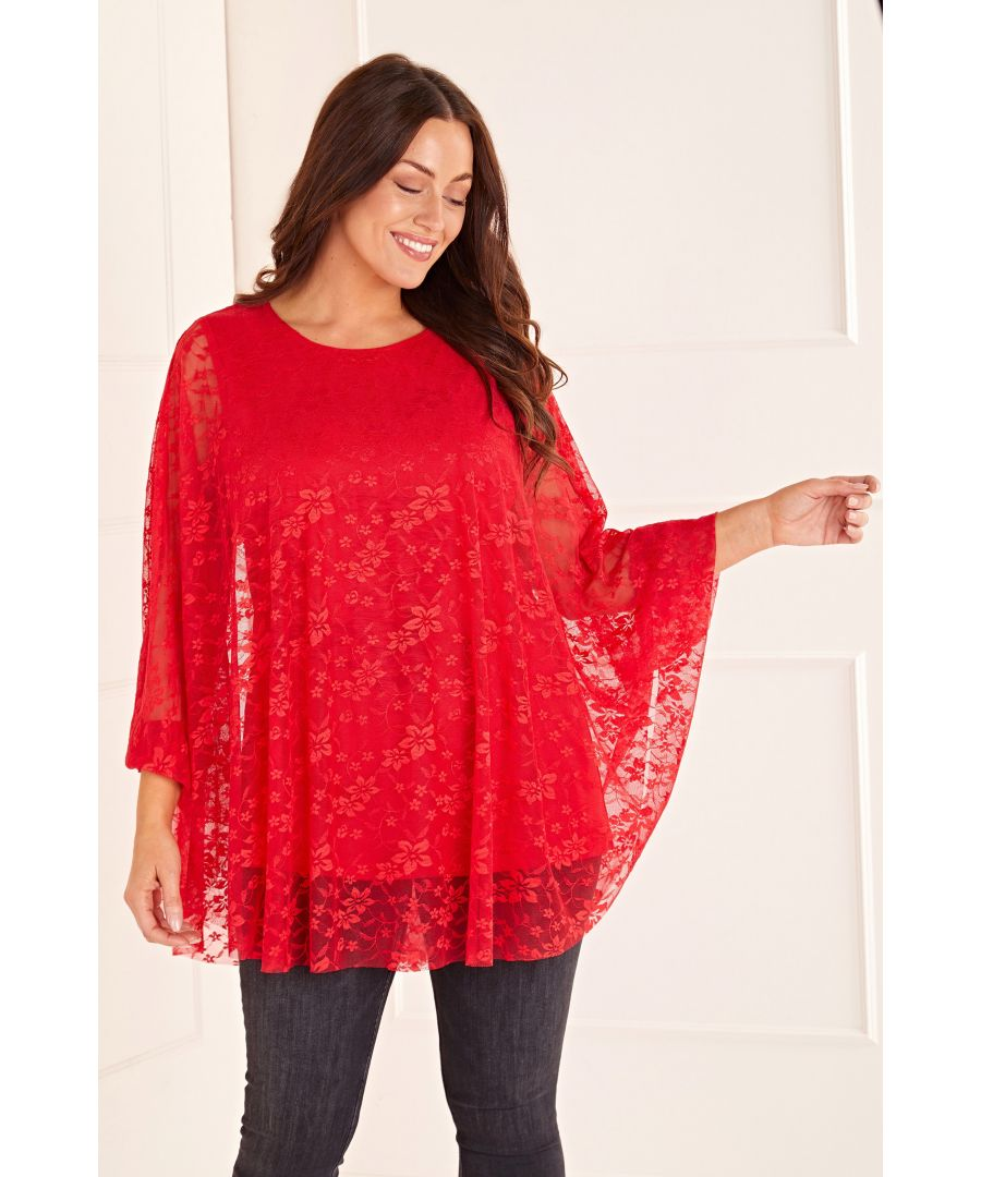 Image for Floral Lace Tunic Top
