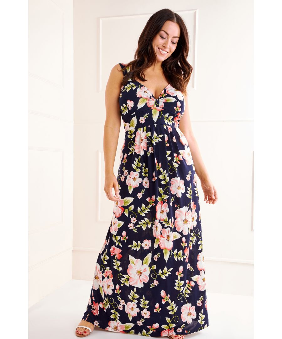 Image for Tropical Floral Maxi Dress