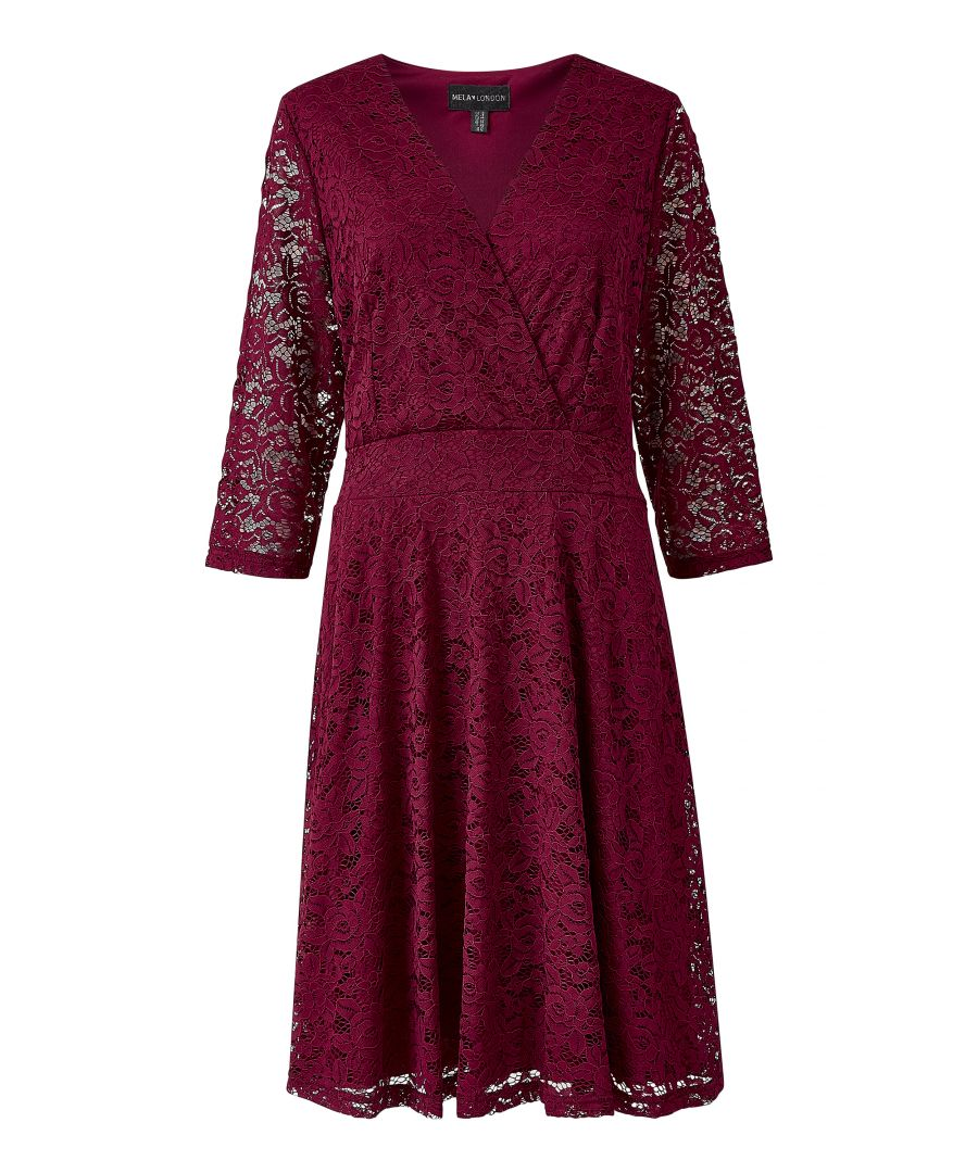 Image for Delicate Lace Long Sleeve Dress