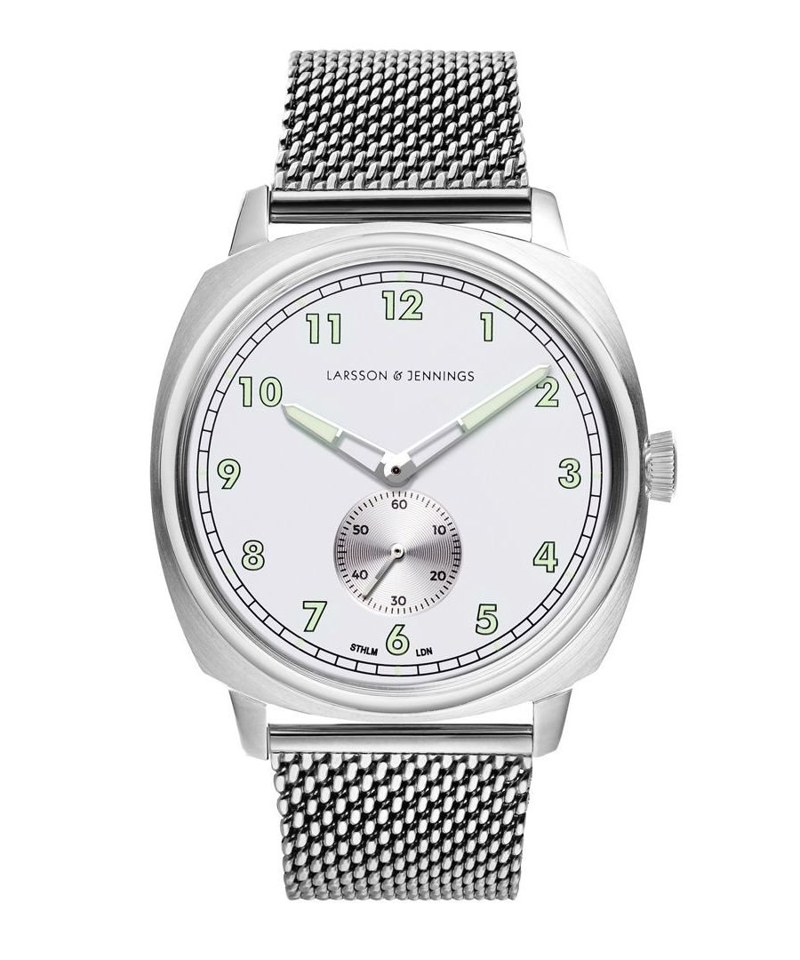 Image for Meridian Milanese 38mm Silver White