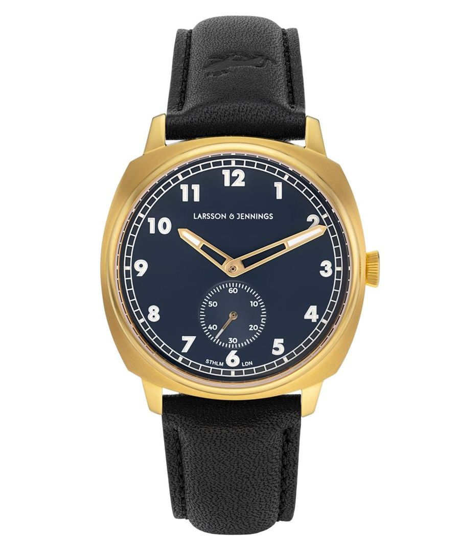 Image for Meridian Leather 38mm Gold Navy