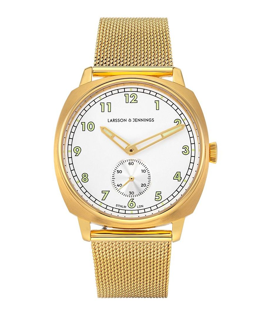Image for Meridian Milanese 38mm Gold White