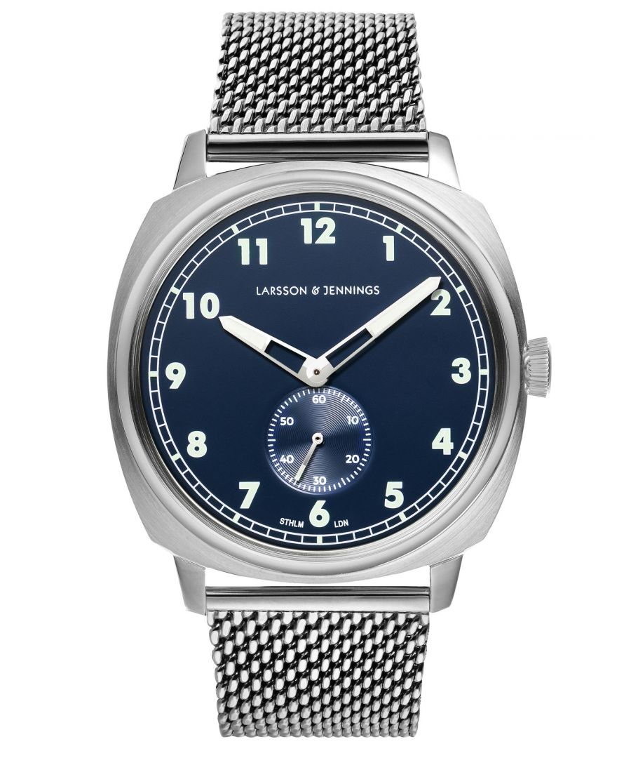 Image for Meridian Milanese 38mm Silver Navy