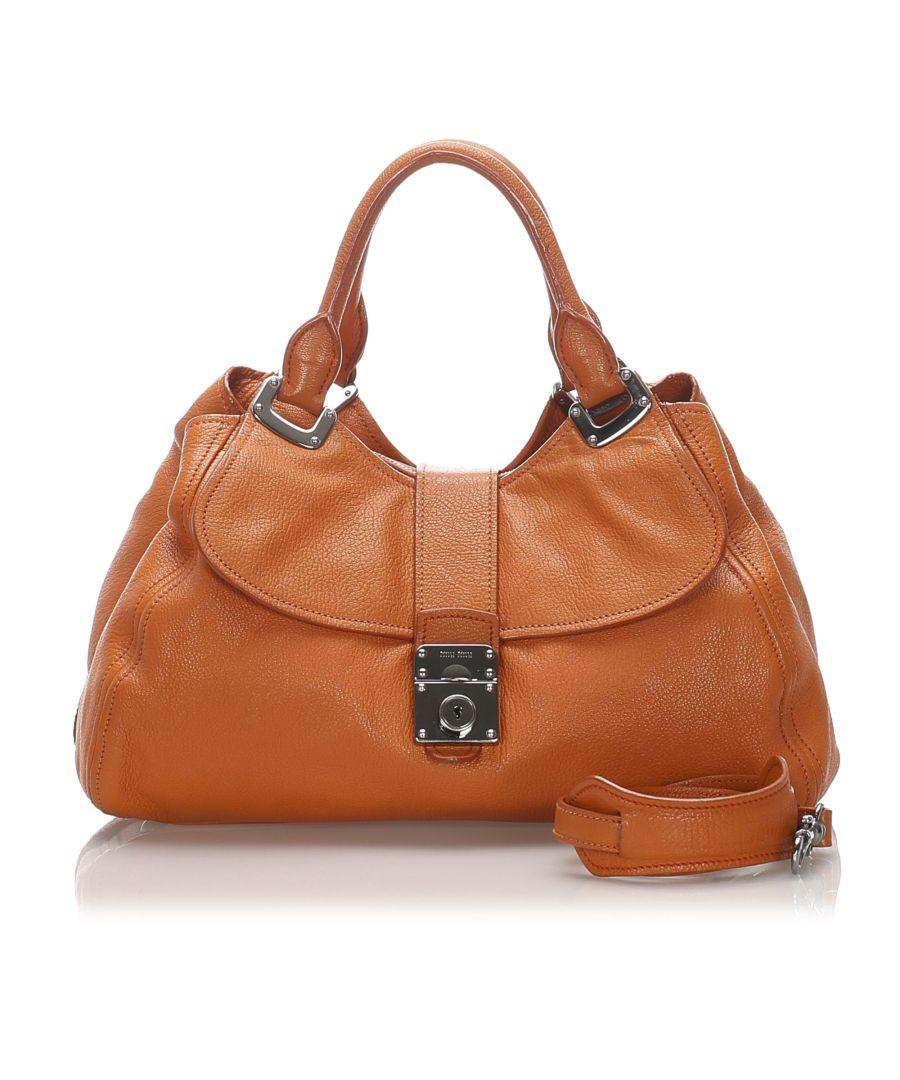 Image for Vintage Miu Miu Leather Satchel Orange