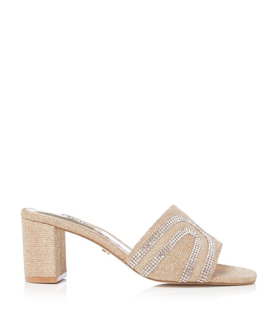 Image for Dune Ladies MELANI Embellished Block Heeled Mule Sandals