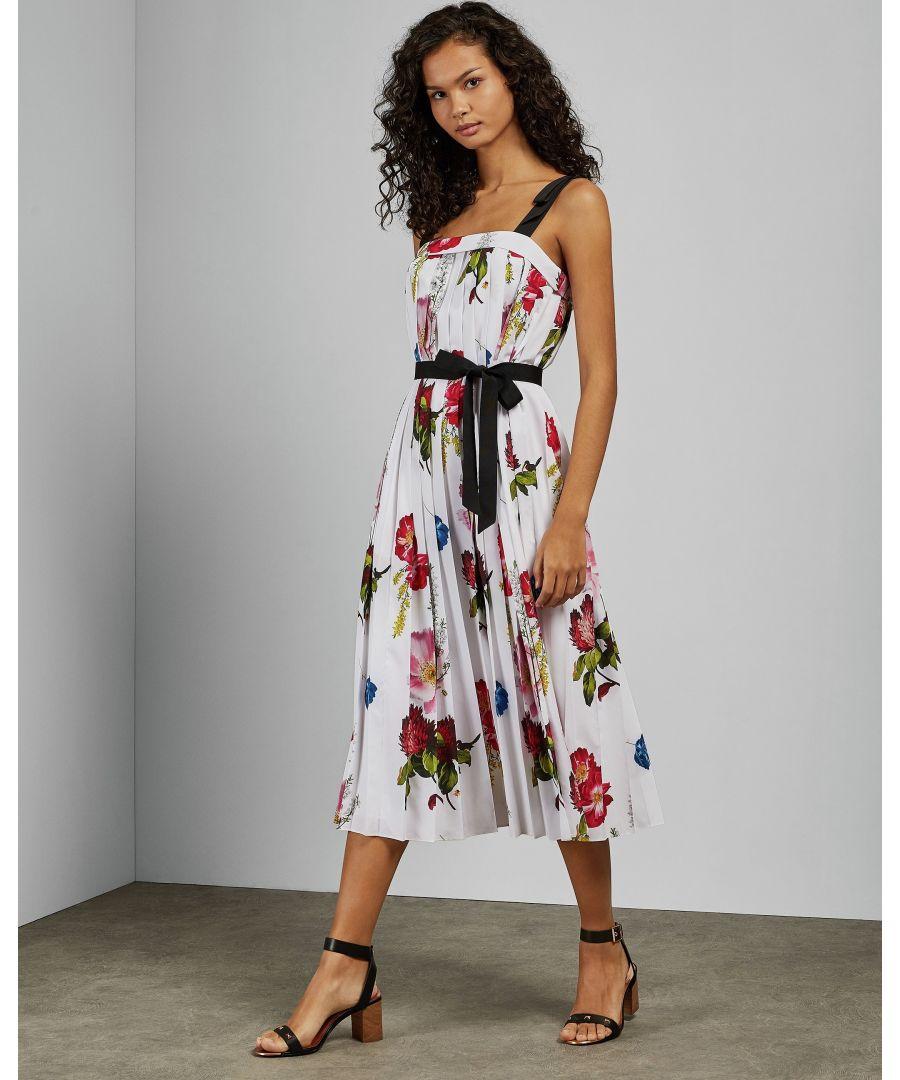 Image for Ted Baker Melbii Berry Sundae Tie Strap Dress, White