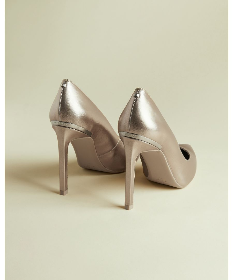 Image for Ted Baker Melnima Metallic Leather High Heel Court, Gold