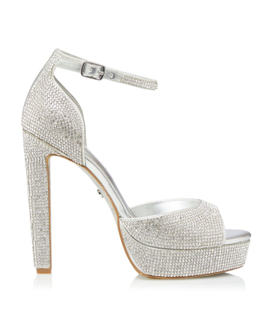 Image for Dune Ladies MILLENIUM Embellished Platform Heel Sandals