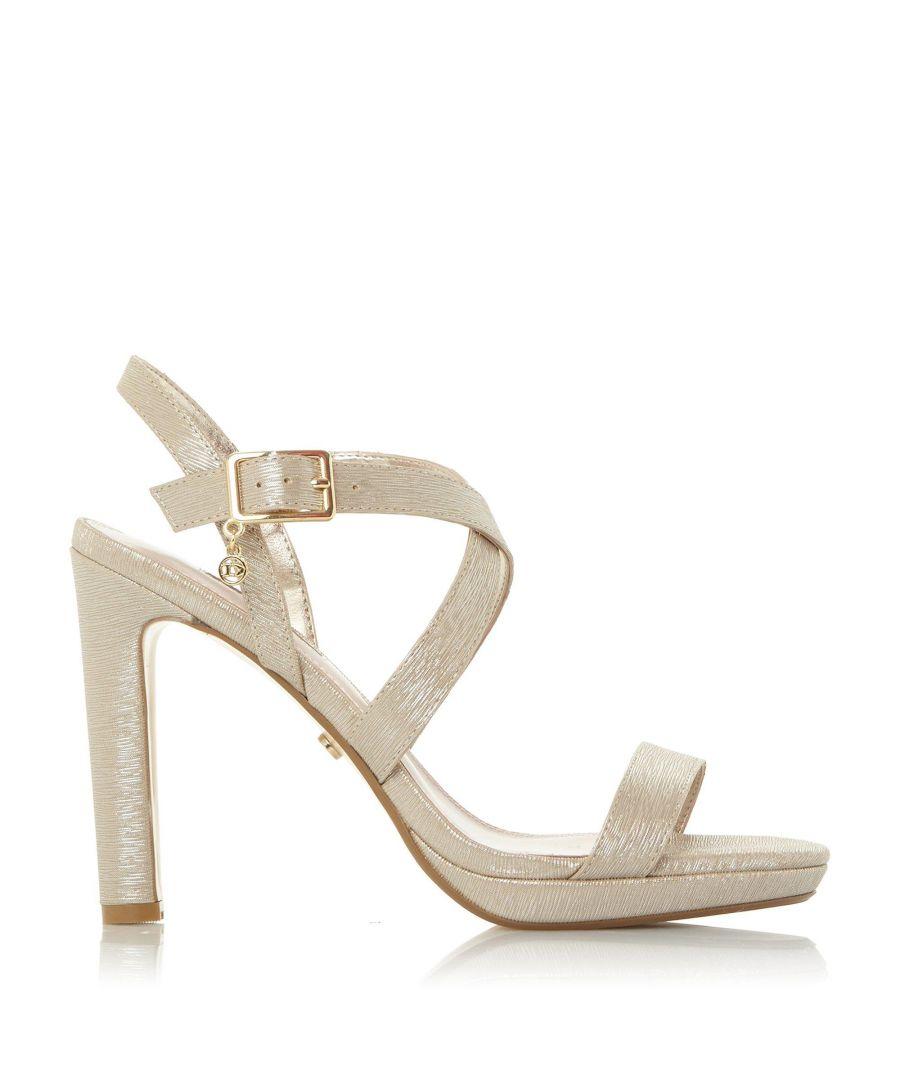 Image for Dune Ladies MISSTEE Cross Strap Block Heel Sandals