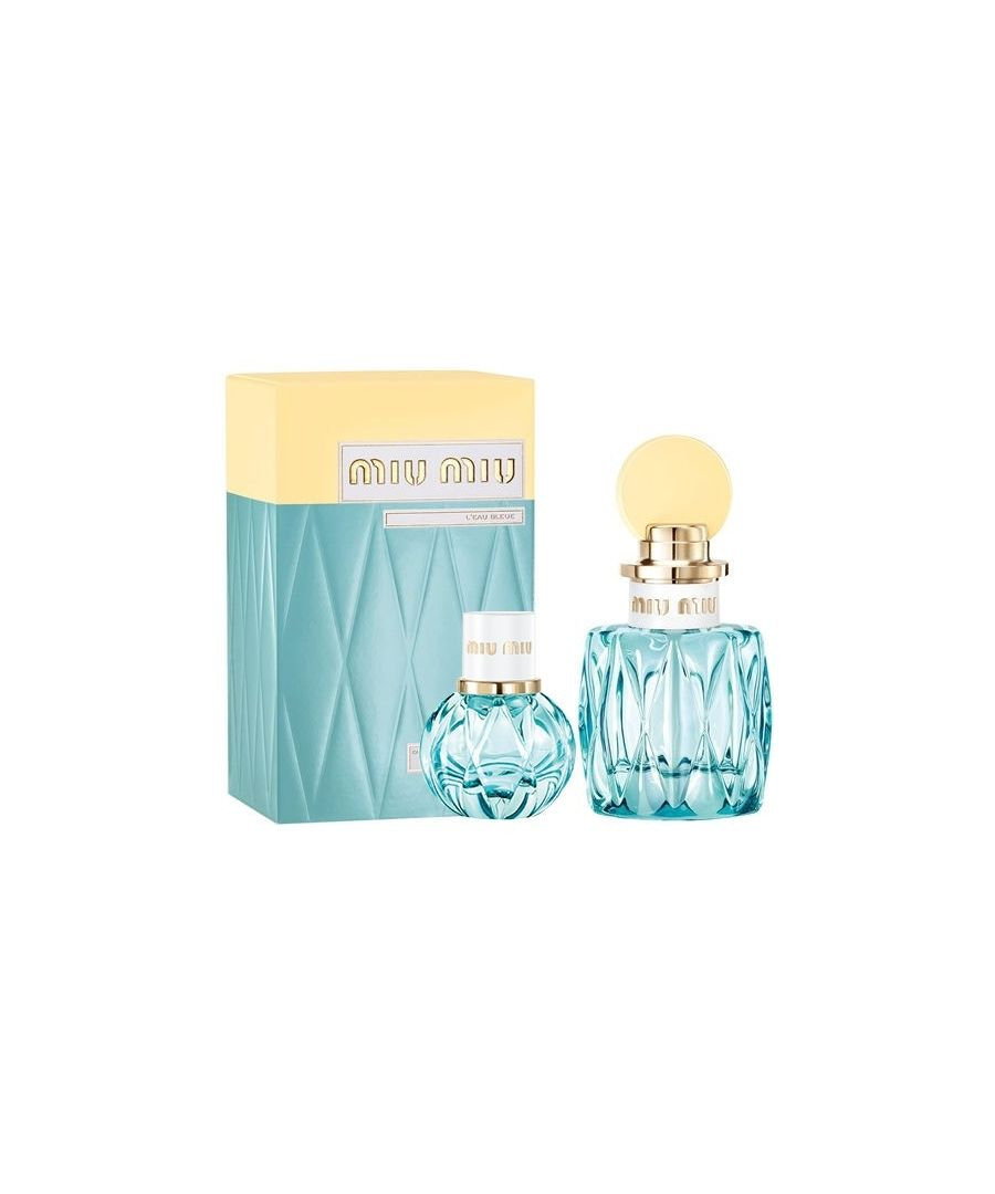 Image for Miu Miu 1 L'Eau Bleue Gift Set Eau De Parfum 100Ml And Eau De Parfum 20Ml