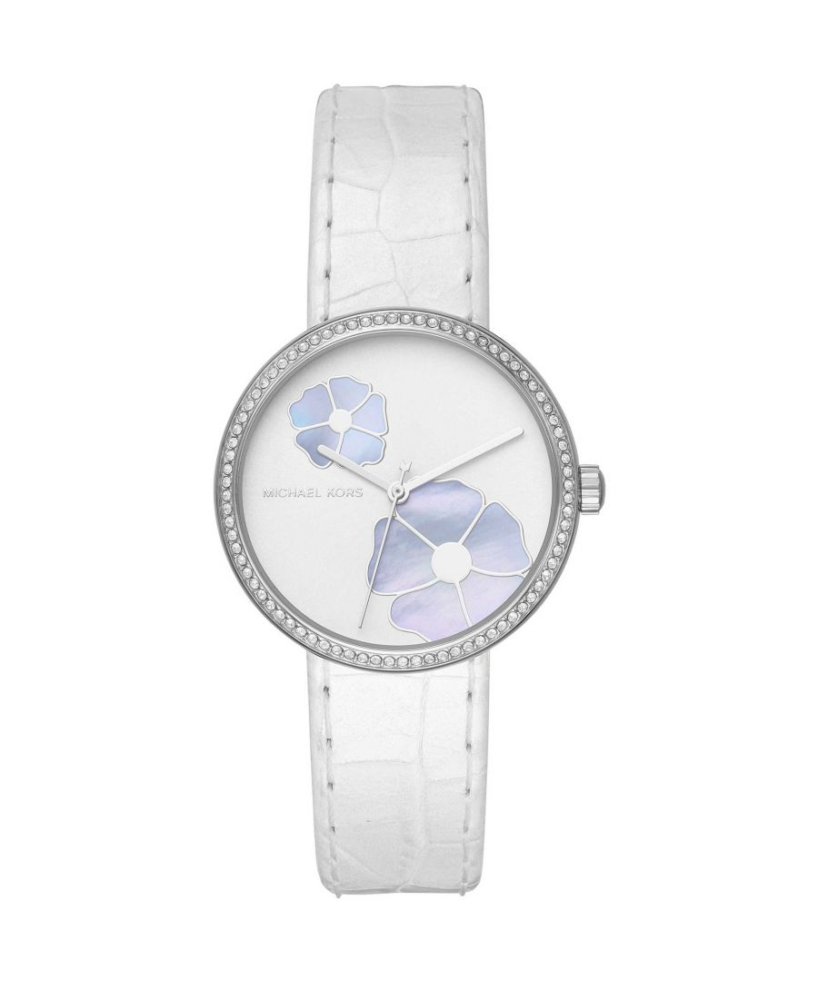 Image for Michael Kors Women's Analogue Quartz Watch with Leather Strap