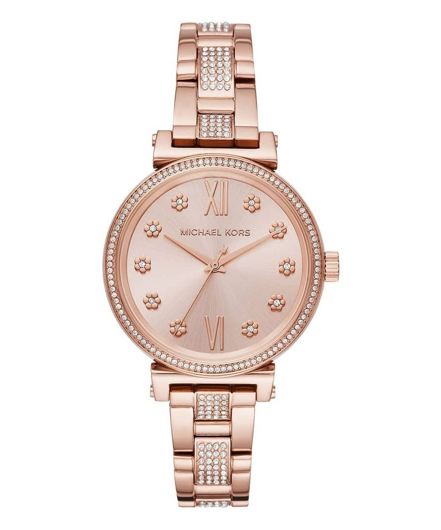 Image for Michael Kors Sofie Rose Gold Tone Dial Ladies Watch MK3882