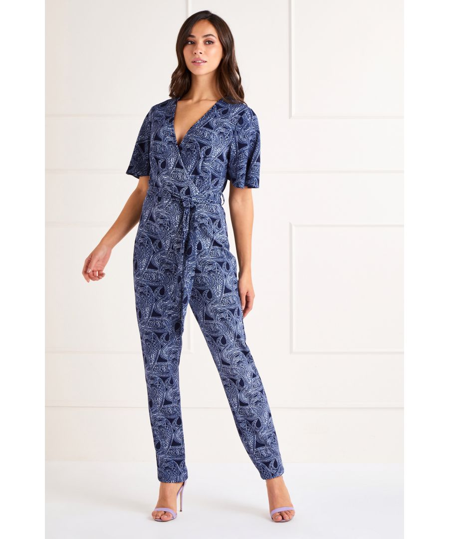Image for PAISLEY PRINT JUMPSUIT