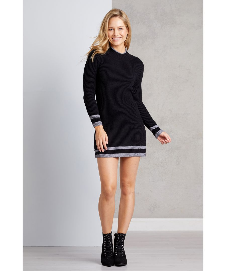 Image for Two Pocket Knitted Bodycon Dress