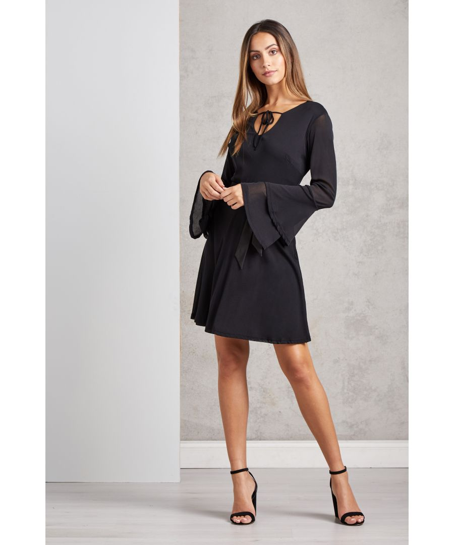 Image for Double Trumpet Sleeve Dress