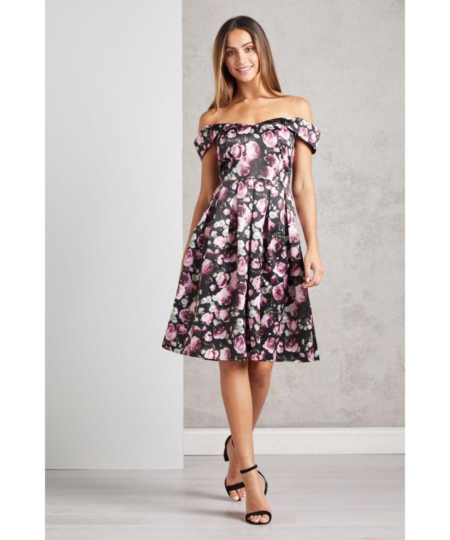 Image for Off The Shoulder Rose Prom Dress