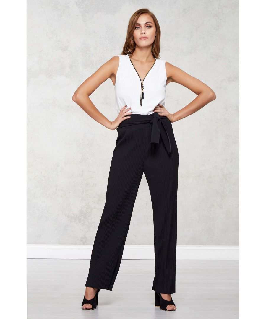 Image for High Waisted Pleated Trousers