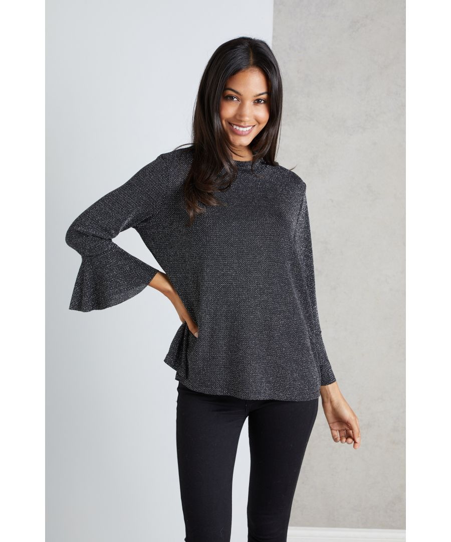Image for Glitz Bell Sleeve Top