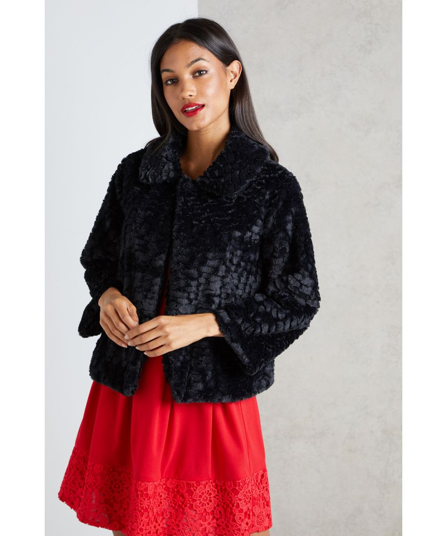Image for Faux Fur Collar Jacket