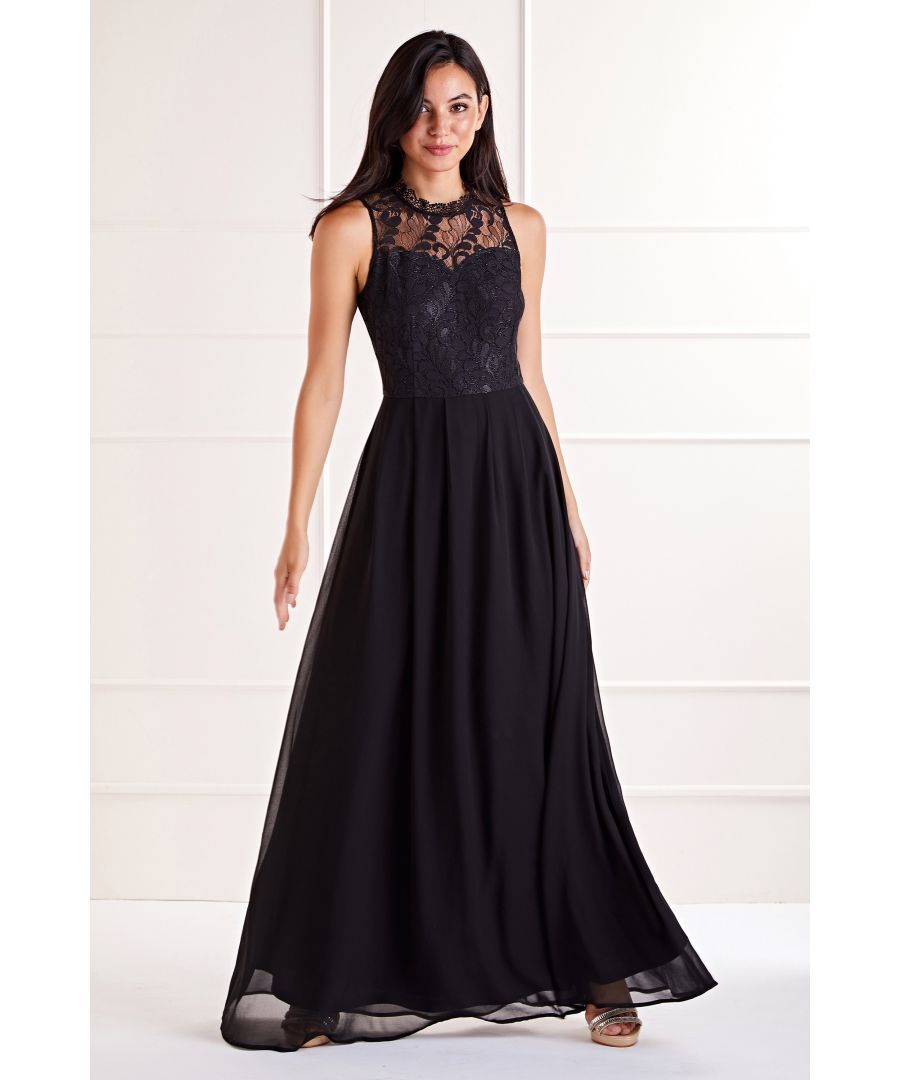 Image for Floral Lace Top Maxi Dress