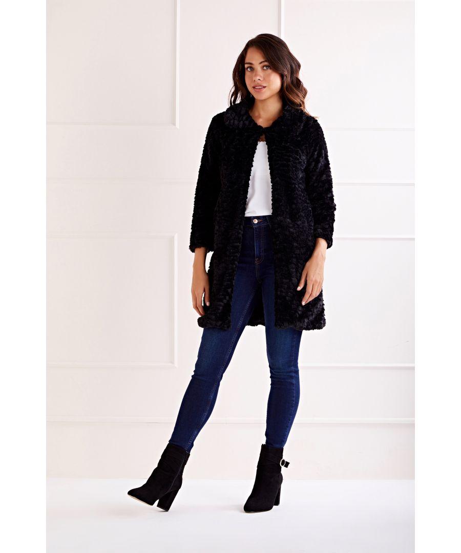 Image for Long Line Fur Jacket
