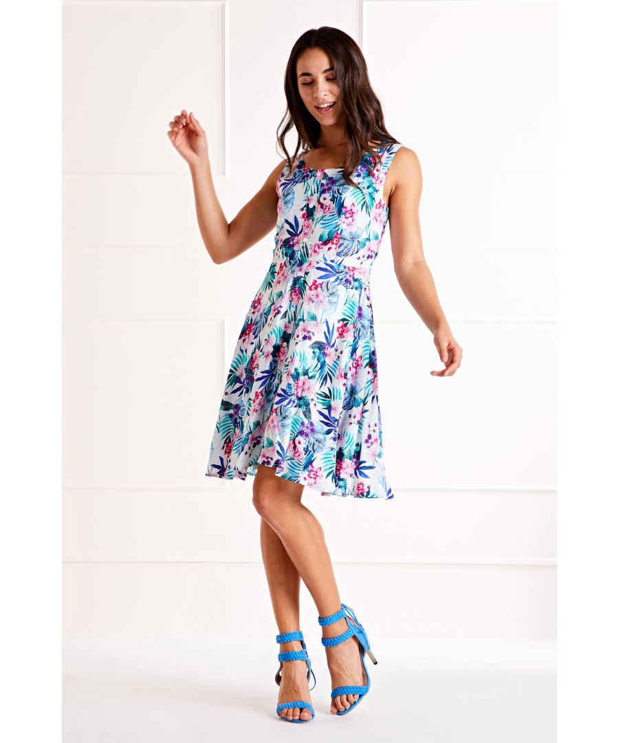 Image for Multi Button Front Printed Dress