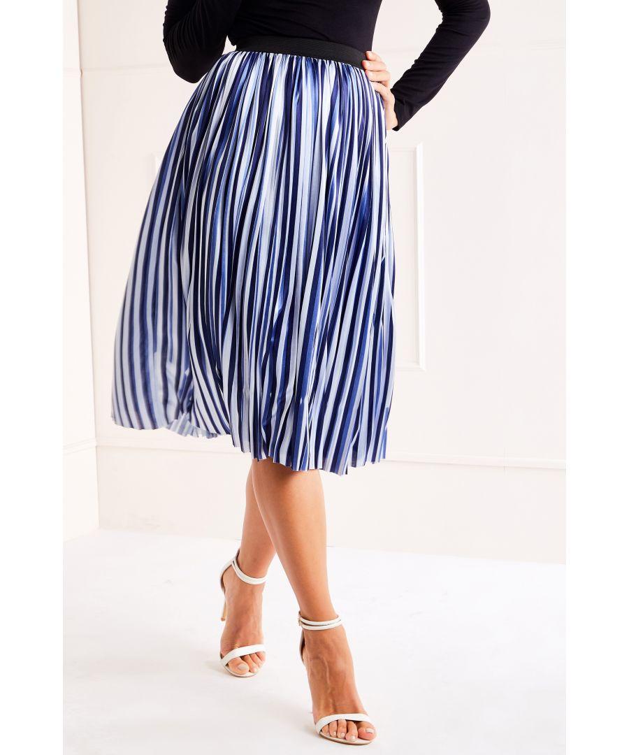 Image for Pleated Midi Skirt