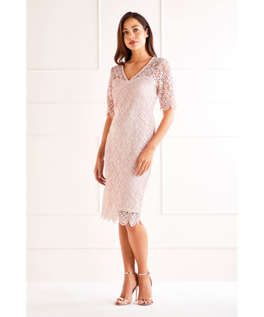 Image for Blush Lace Midi Dress