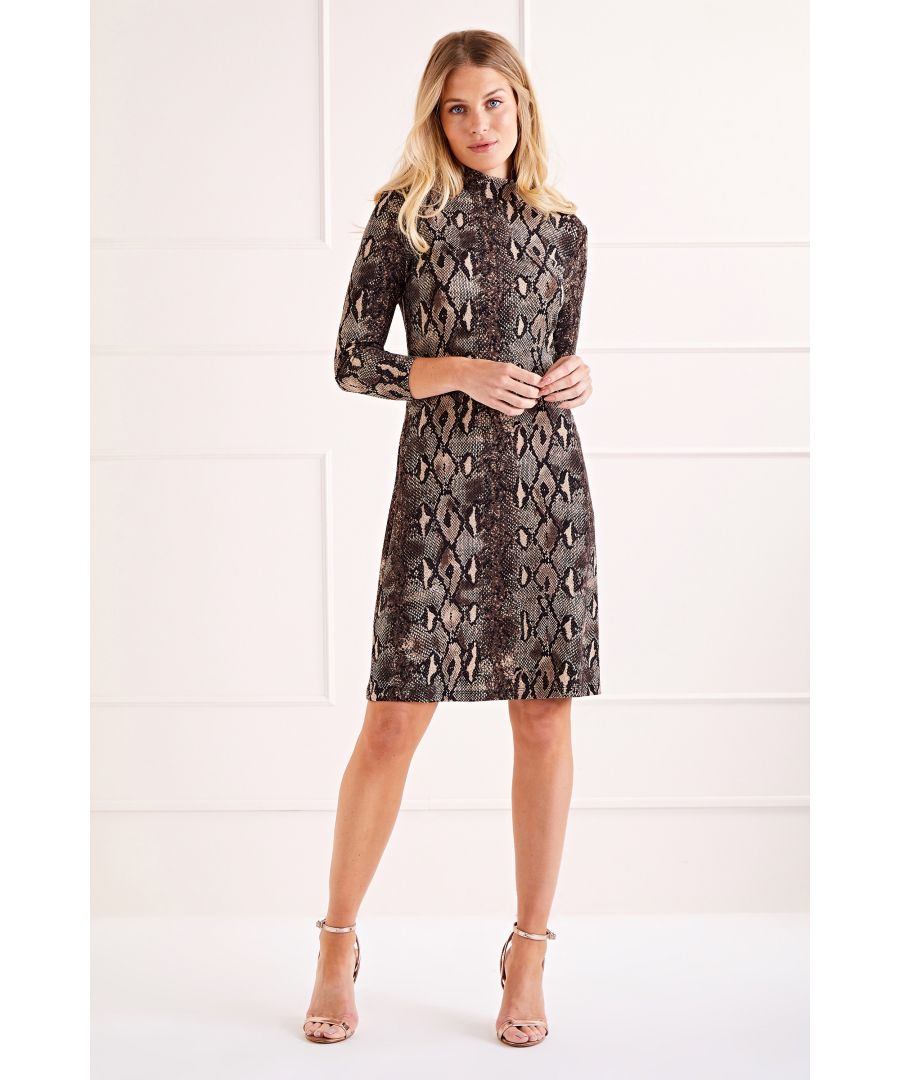 Image for Multi Snakeskin Bodycon Dress