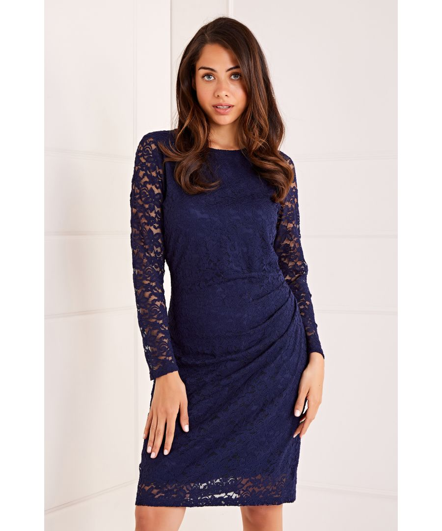 Image for Ruched Lace Bodycon Dress