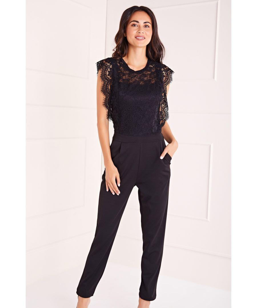 Image for Delicate Lace Shoulder  Jumpsuit