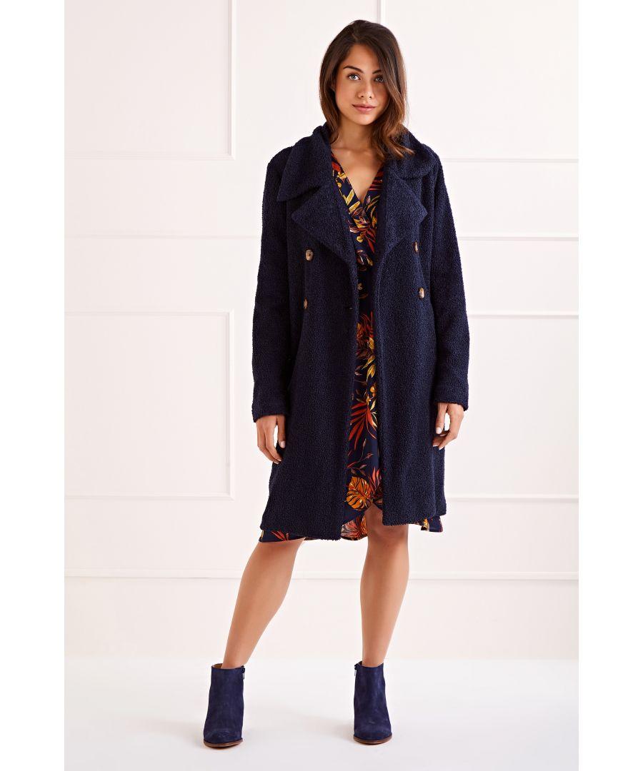Image for Navy Teddy Bear Coat