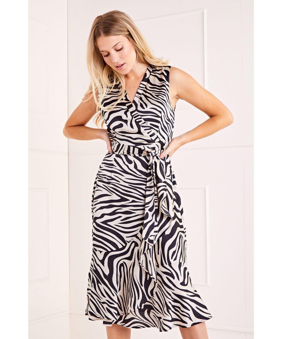 Image for Wrap Effect Midi Dress