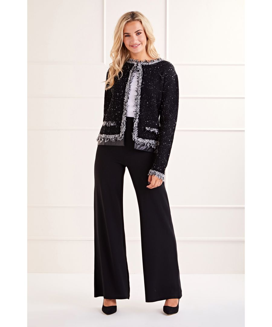 Image for Black Tweed Cropped Jacket