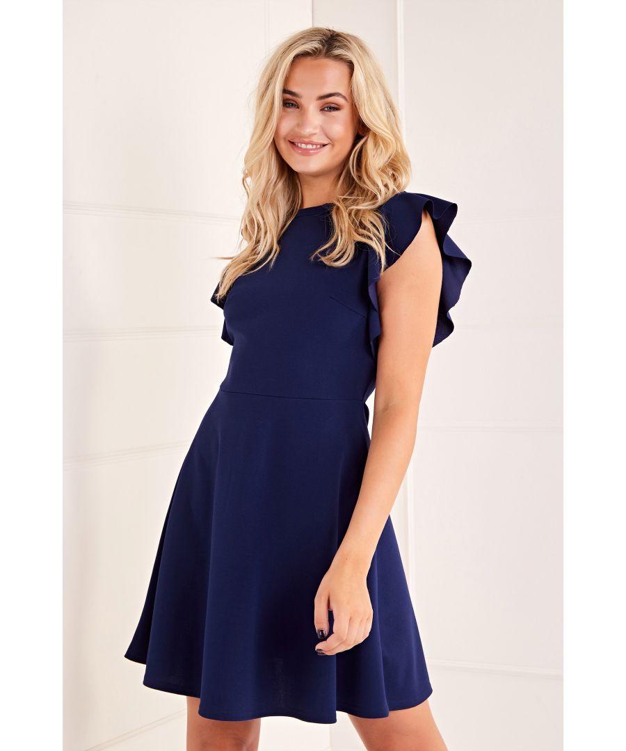 Image for Side Ruffle Skater Dress