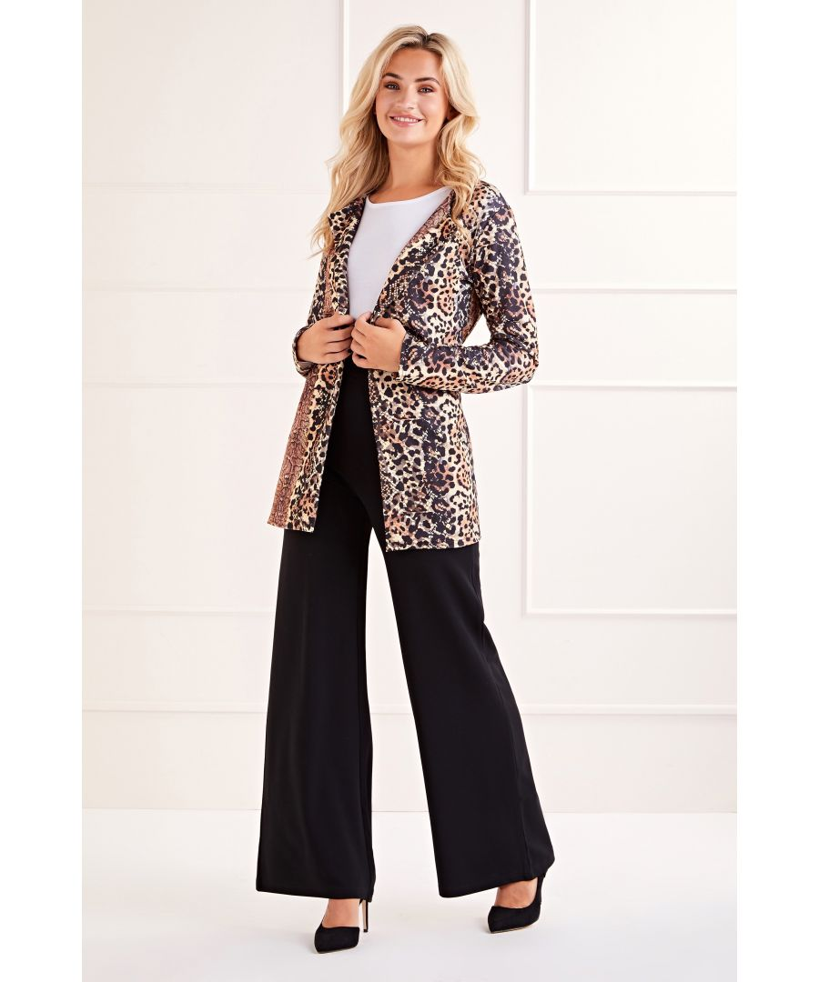 Image for Brown Animal Print Jacket