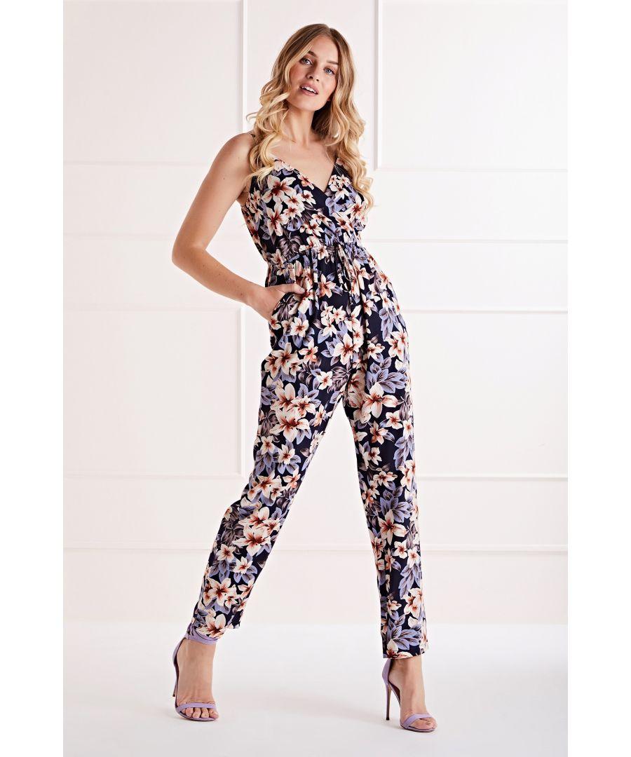 Image for Mela Navy Floral Jumpsuit